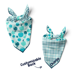 Blue Apples - Double Sided Dog Bandana