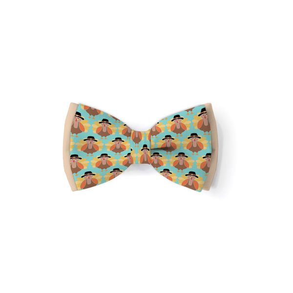 Little Turkey Blue - Double Layered Bow Tie