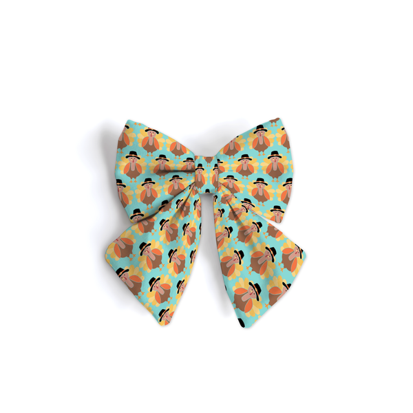Little Turkey Blue - Sailor Bow