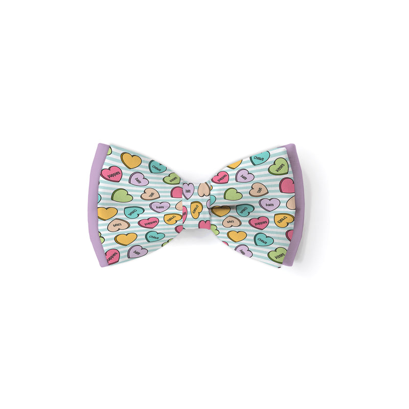 Conversation Hearts Multi - Double Layered Bow Tie