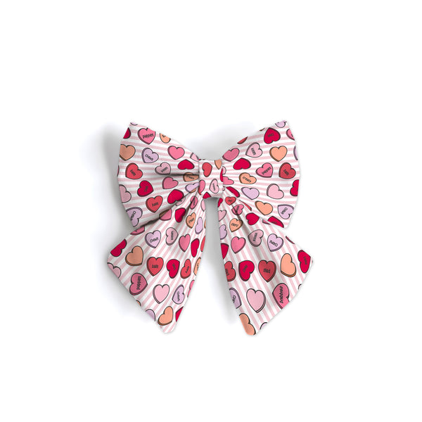 Conversation Hearts Pink - Sailor Bow