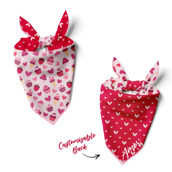 Cupcakes - Double Sided Dog Bandana