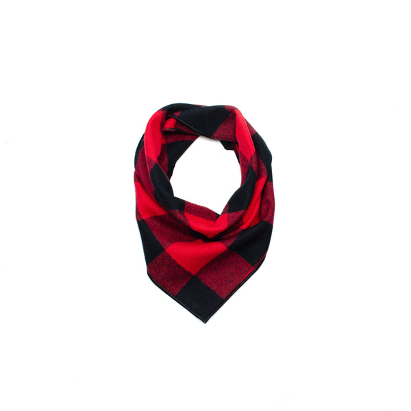 dog bandana scarf flannel buffalo plaid