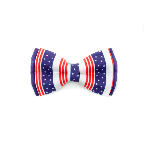 Liberty Blue - Double Layered Bow Tie