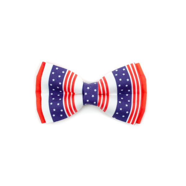 Liberty Red - Double Layered Bow Tie
