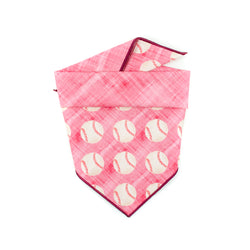 Red Baseball - Double Sided Dog Bandana