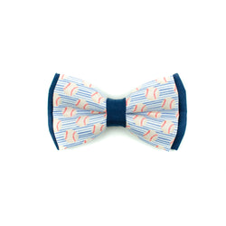 Blue Baseball - Double Layered Bow Tie