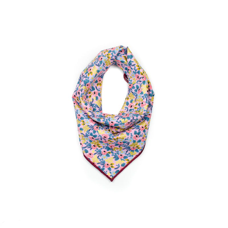 rifle paper co les fleurs personalized dog bandana