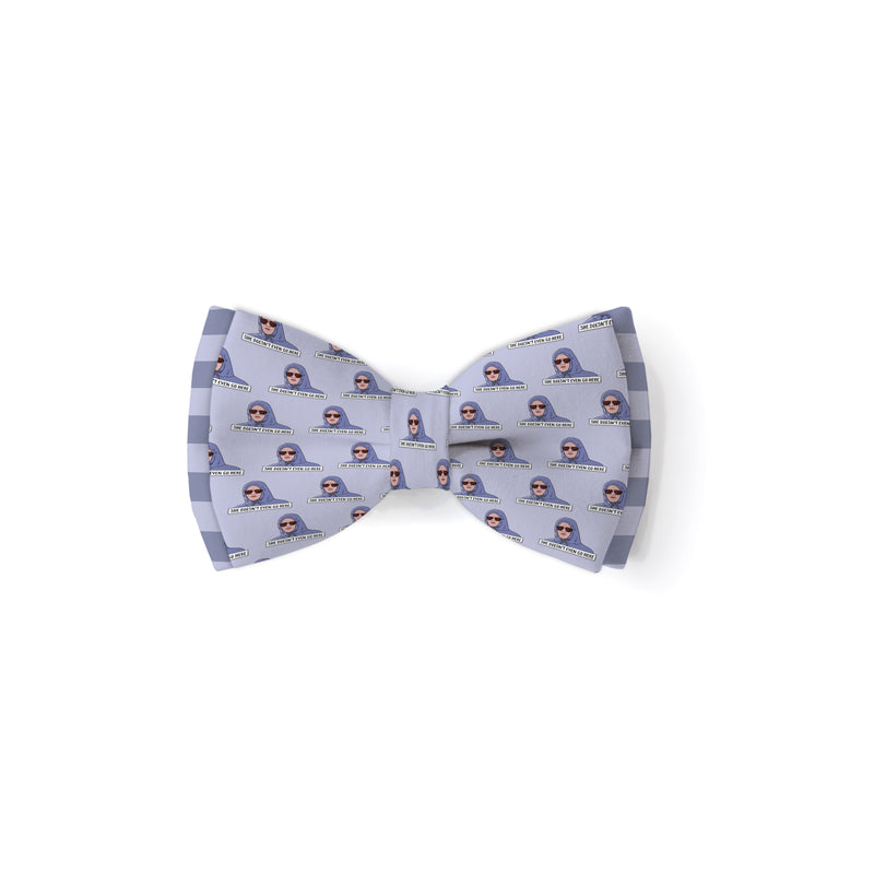 She Doesn't Even Go Here - Double Layered Bow Tie