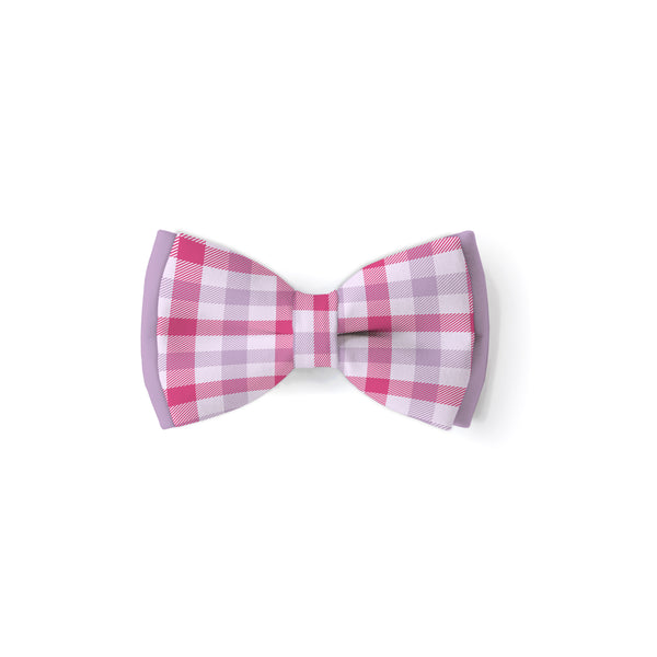 Valentine's Plaid - Double Layered Bow Tie