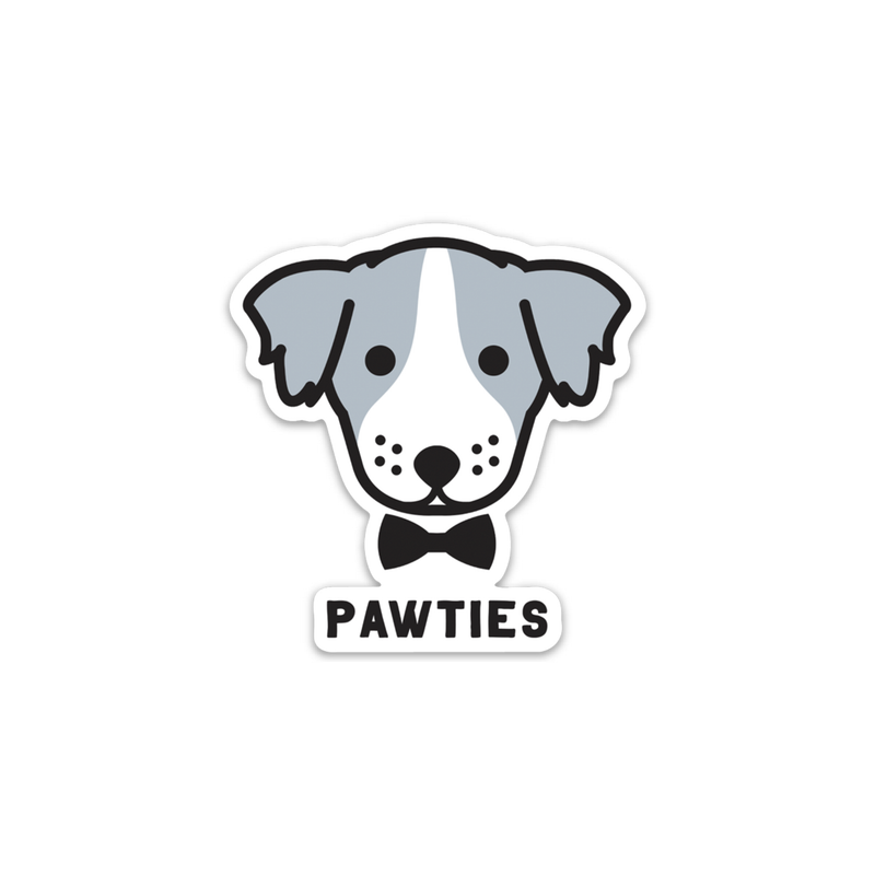 PawTies Logo Sticker