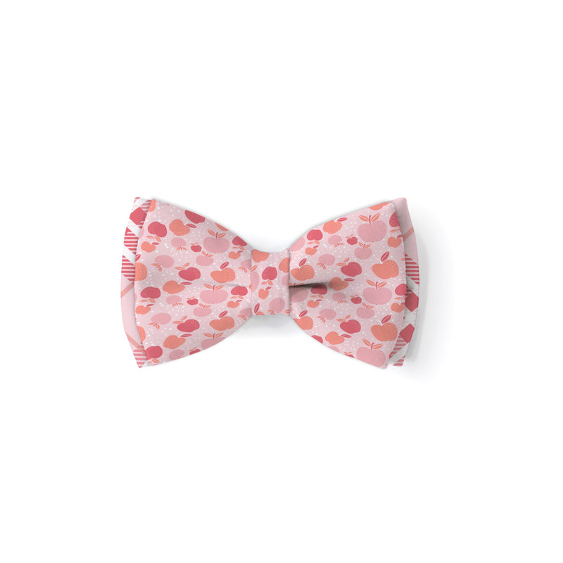 Pink Apples - Double Layered Bow Tie