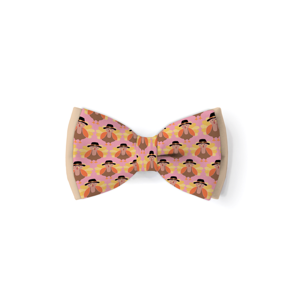 Little Turkey Pink - Double Layered Bow Tie