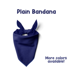 Plain Fabric Dog Bandana (Perfect for Add Ons)