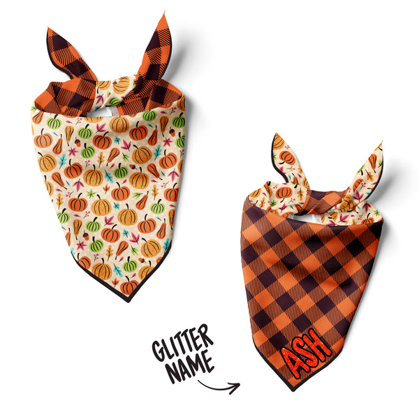 Fun Pumpkins - Double Sided Dog Bandana
