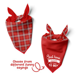 Red Plaid - Double Sided Dog Bandana