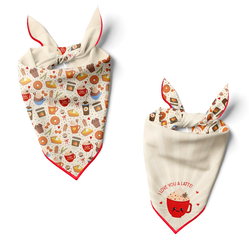 Spiced Lattes - Double Sided Dog Bandana