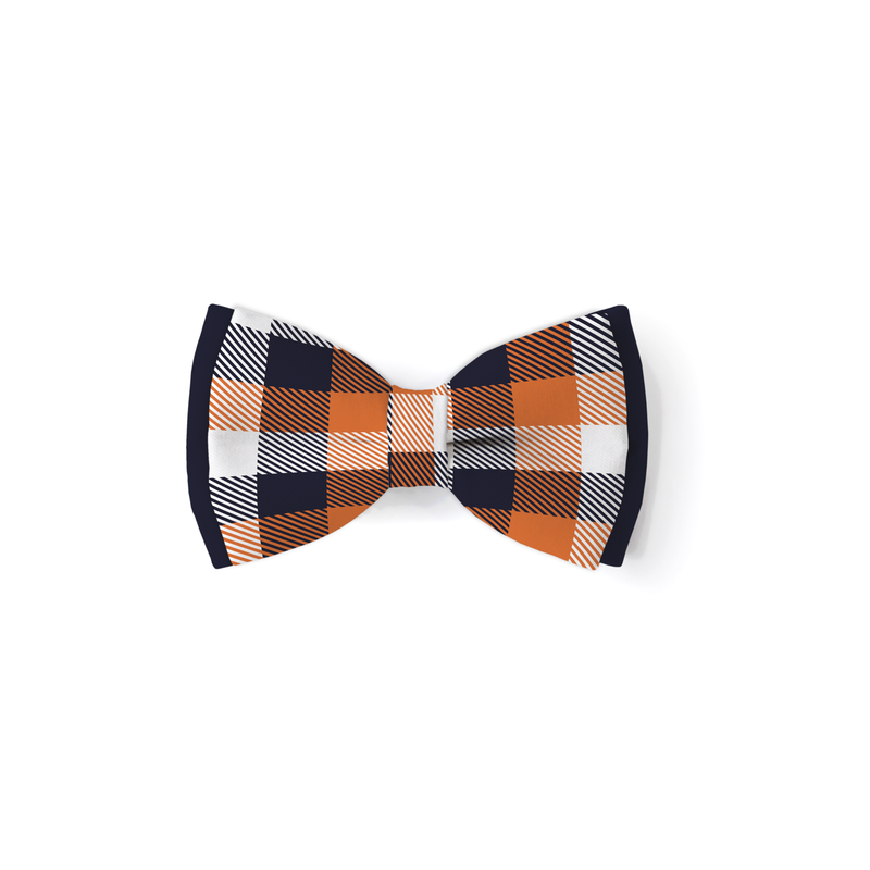 Trick or Treat Plaid - Double Layered Bow Tie