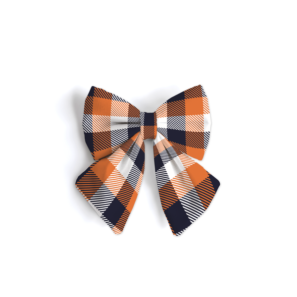 Trick or Treat Plaid - Sailor Bow