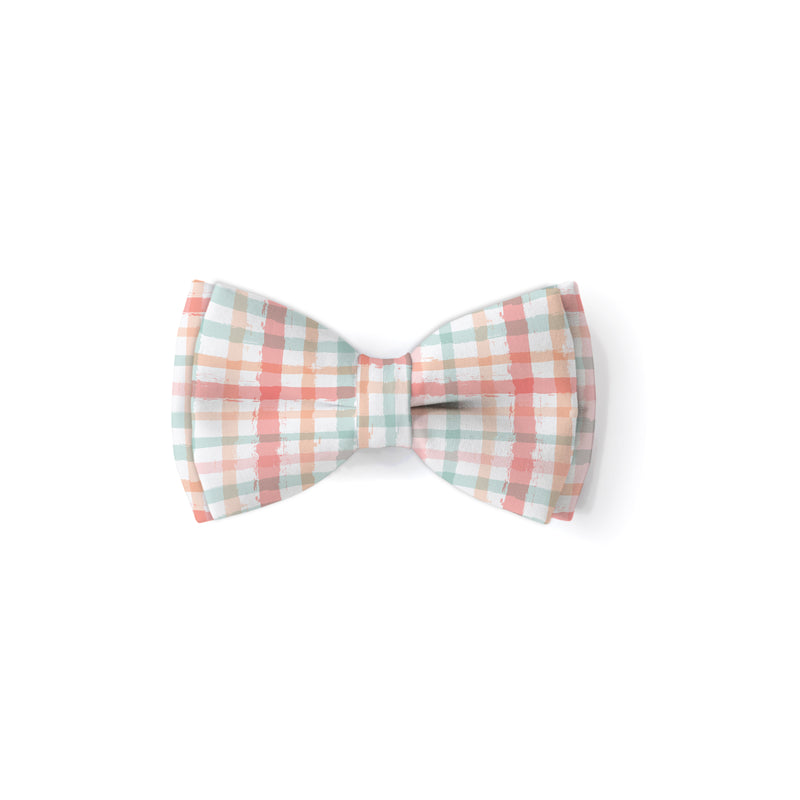 Watercolor Plaid - Double Layered Bow Tie