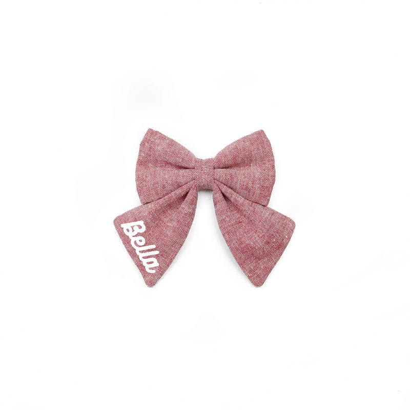 Sailor Bow Name - Add On - PawTies