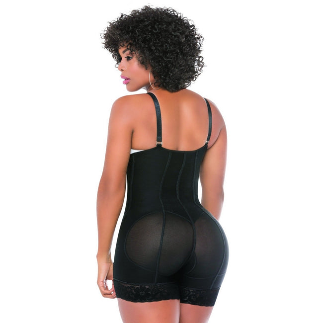 Faja-Salome-0214-Strapless-Body-Shaper-compression-Butt-Lifter-Black