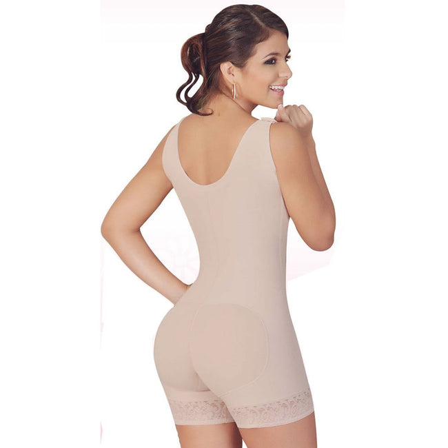 Faja-Salome-0217-High-Back-Thick-Straps-Body-Shaper-compression-Butt-Lifter-Shorts-beige
