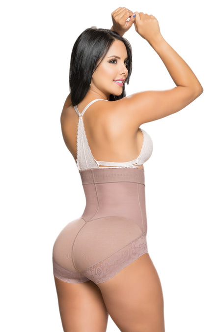 Faja Salome 0315-1 Lady's Waist Trainer with Zipper - High Compression Line