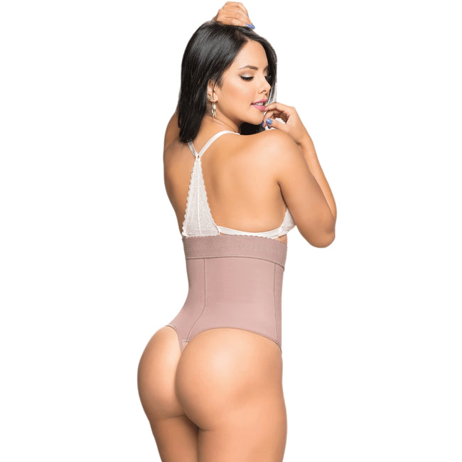 Faja-Salome-0538-J-Liposculpture-Thong-Girdle-Bodysuit-Coffe