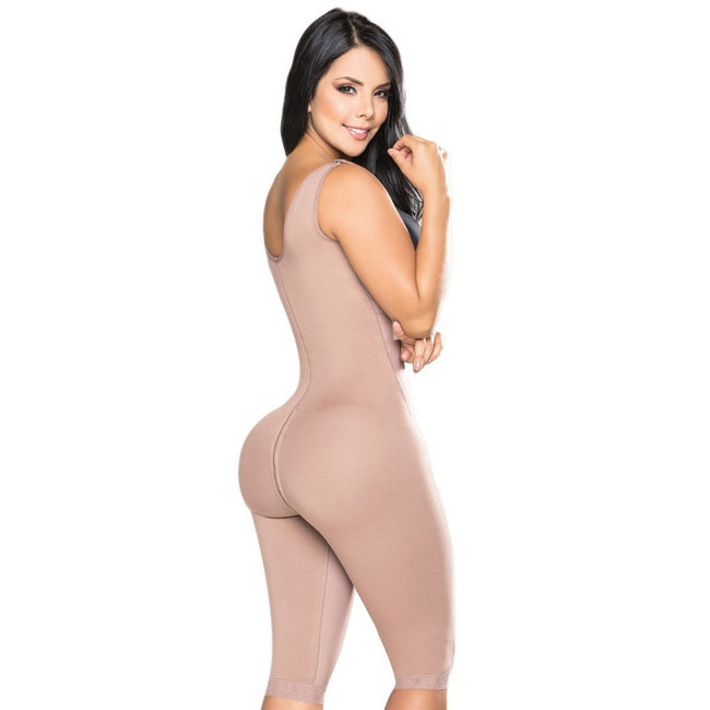 Salome-0545-J-Liposculpture-Long-girdle-Zipper-on-the-side-back-Coffe