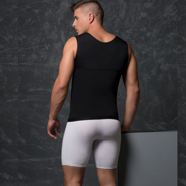 Delie by Fajas Diseños DPrada Faja Colombiana 09015 Post-Surgical invisible Men Maximun Adjustment Black back