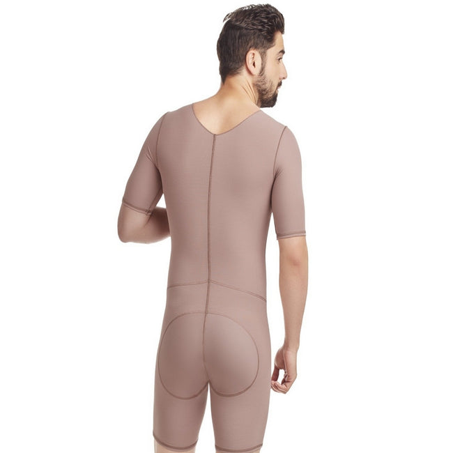 Delie By Fajas Diseños DPrada Faja Colombiana 09018 Men Post-Surgical Posture Improvement With Zipper Cafe´