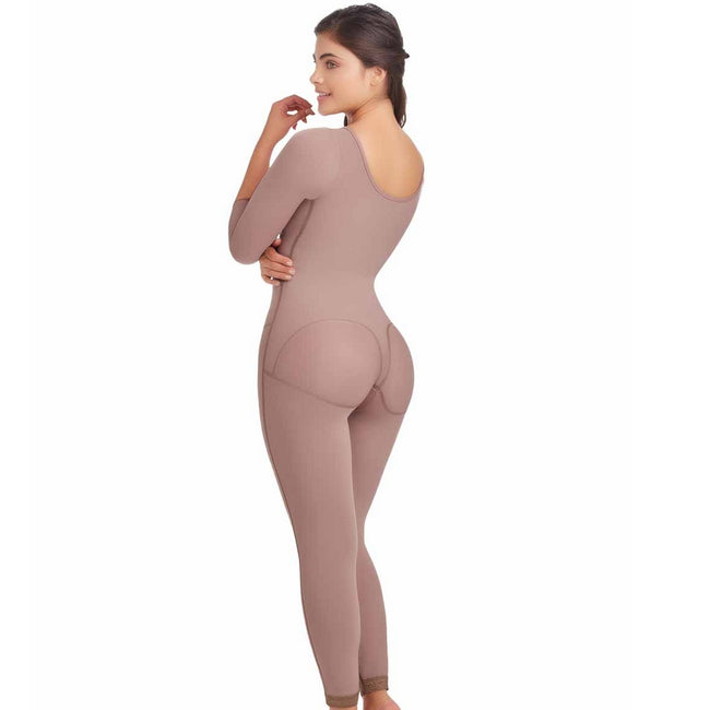 Delie Fajas Diseños DPrada Faja Colombiana 11036 Post surgical girdle with side zipper Body-Suit
