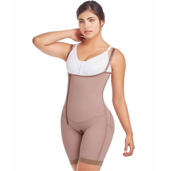 Delie by Faja diseños DPrada Faja Colombiana 11042 Post-Surgery High Compression Short Cafe'