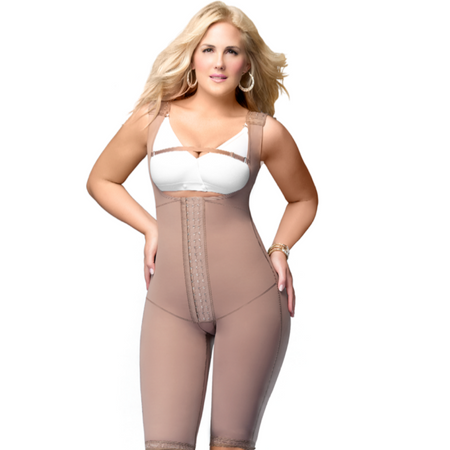 Delie by Fajas Diseños DPrada Faja Colombiana Post surgery body-shaper Bra Included