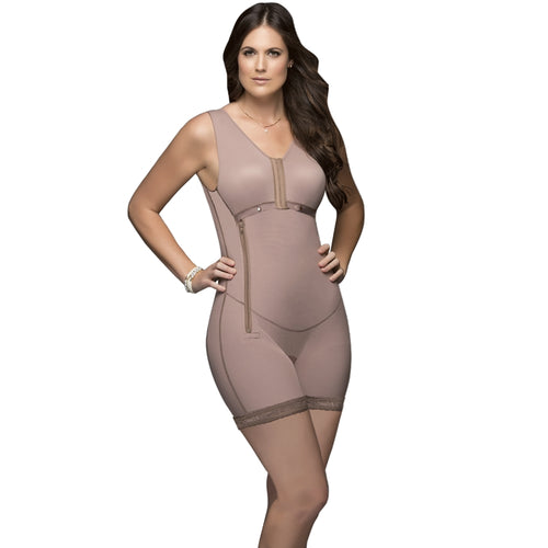 Delie by Fajas DPrada Faja Colombiana 11216 Postsurgical Bust Enhacement Short Cafe´