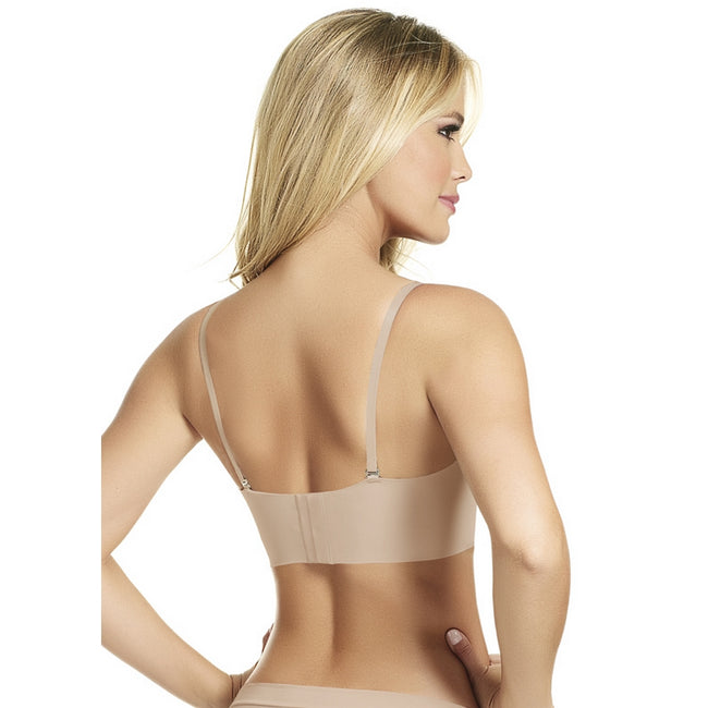 Haby 11219 Lingerie Women's Wide Base and Back Strapless Body Bra beige