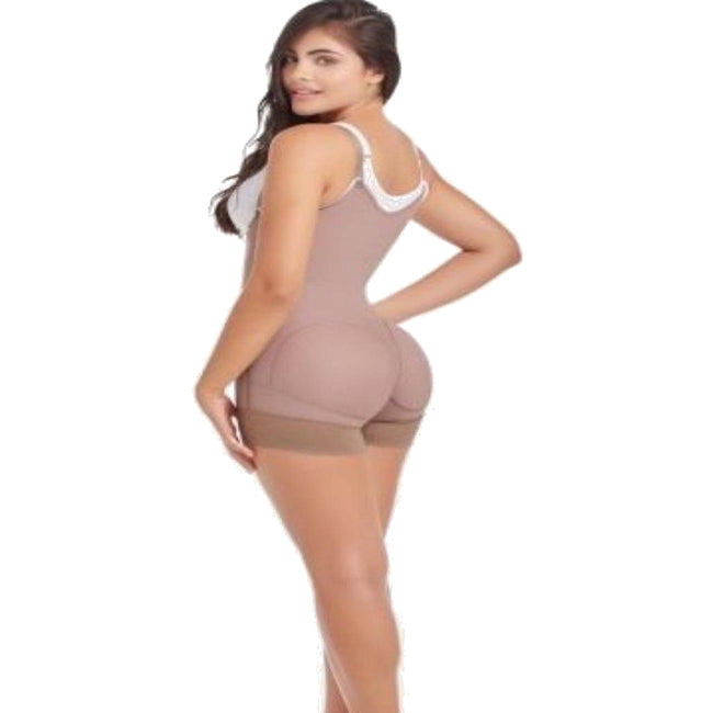 Delie by Fajas Diseños DPrada Faja Colombiana 09120 Short Butt Lift Panty Post-Surgical Daily Use Cafe