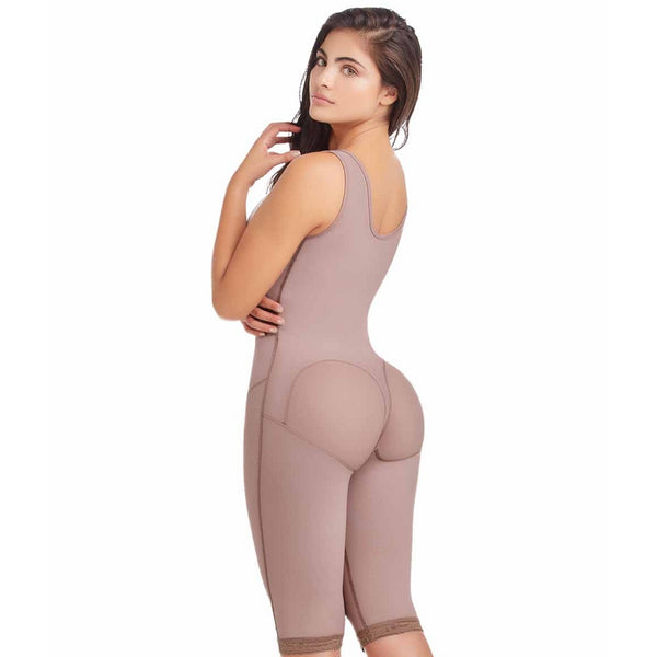 Delie by Fajas Diseños DPrada Faja Colombiana 09175 Braless Tummy Compression Garment Cafe'