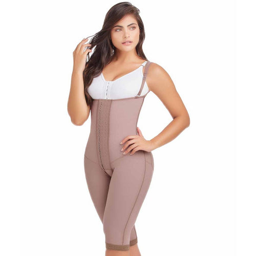 Delie by Fajas Diseños DPrada Faja Colombiana 11175 Braless Tummy Compression Garment Cafe'