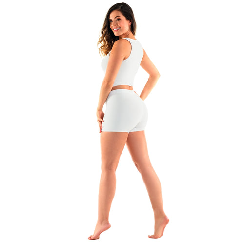 Haby 21321 High Waisted Boy Short Cotton White