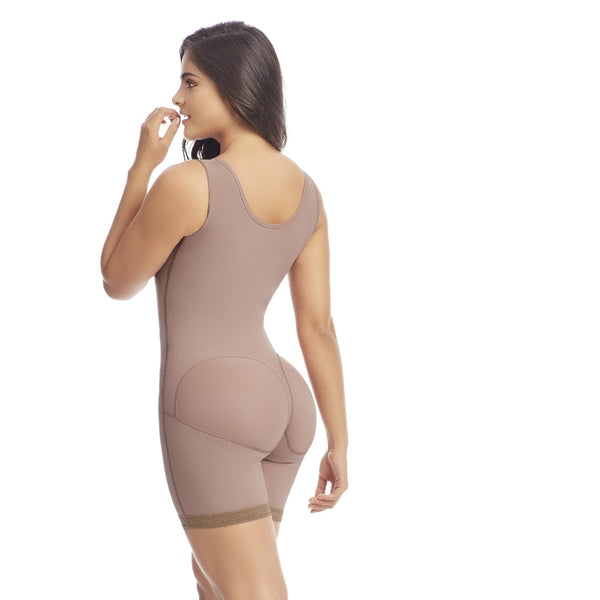 Delie by Fajas Diseños DPrada Faja Colombiana 09215 Post surgery body-shaper Bra Included Cafe