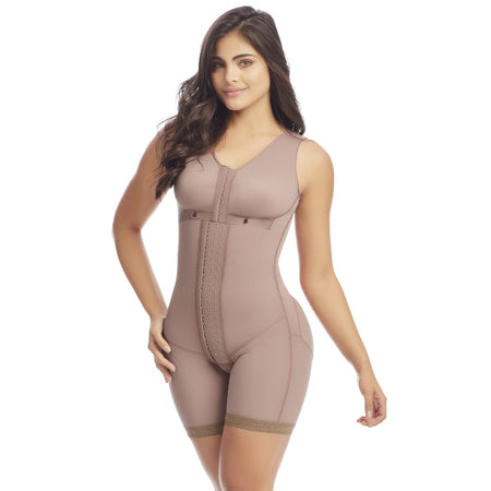 Faja Colombiana Melibelt Post surgical Body Shaper with sleeves up to knee