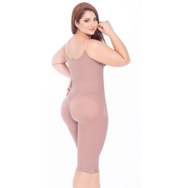 3013-Fajas-Colombianas-Melibelt-Double-abdominal-reinforcement-Knee-length-sash-Helps-recovery-and-obtain-better-results-after-surgery-Adjustable-straps-Natural-butt-lift-system-Semi-invisible-Coffe
