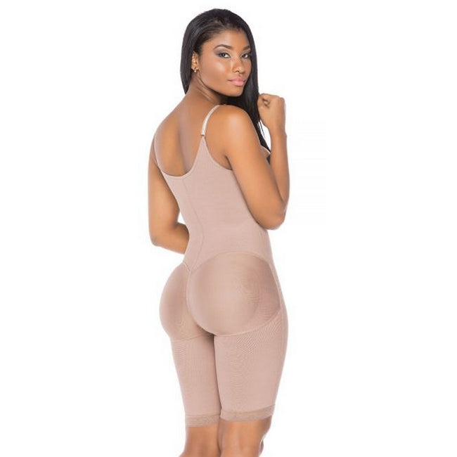 Fajas-Colombianas-Melibelt-3013-Double-abdominal-reinforcement-Knee-length-sash-Helps-recovery-and-obtain-better-results-after-surgery-Adjustable-straps-Natural-butt-lift-system-Semi-invisible-Coffe