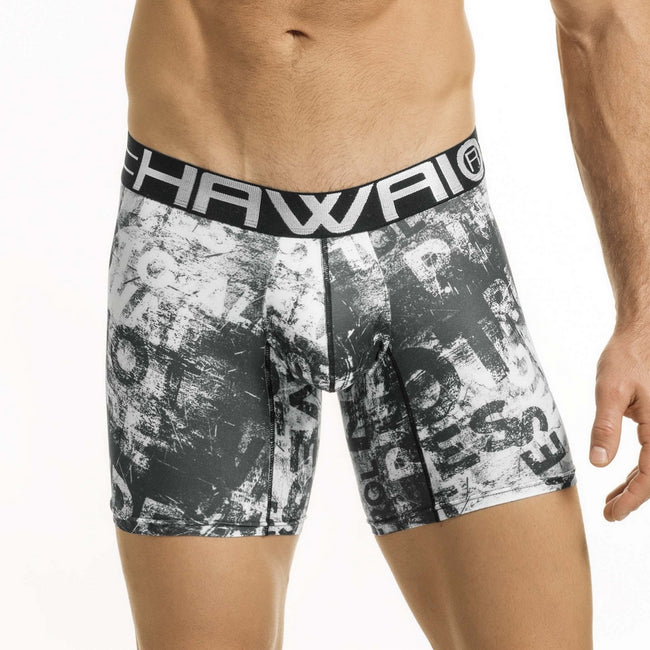 Hawai® Original Underware Men's Sleek Boxer Brief Middle Leg 41854 black