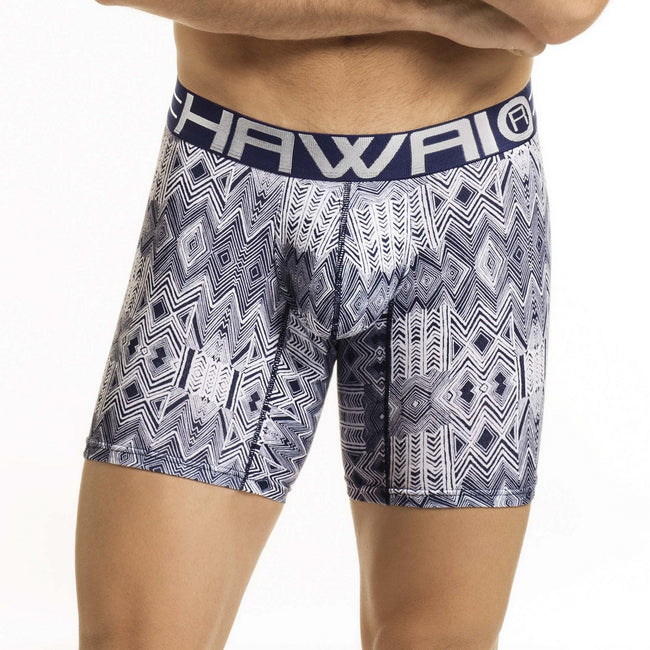 HAWAIR Original Underware Men's Sleek Boxer Brief Middle Leg 41855 blue