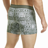 HAWAIR Original Underware Men's Sleek Boxer Brief Middle Leg 41855 green