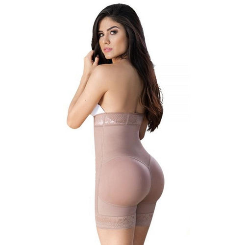 Faja-Colombiana-Melibelt-5022-strapless-body-shaper-butt-lifter-high-waisted-short-Coffe