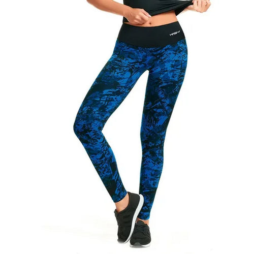 Haby 61400 Women High Waist Sports Tights Workout Running Pant Legging Blue